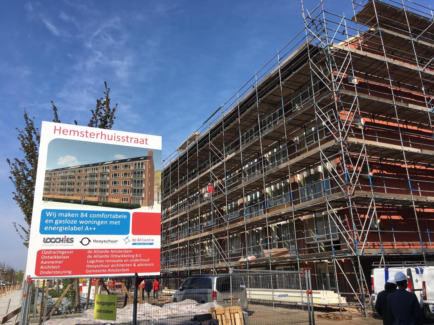 Voor de planontwikkeling en uitvoering van de renovatie vormde de Alliantie een bouwteam met Hooyschuur Architecten, constructeur Strackee en Logchies renovatie en onderhoud.