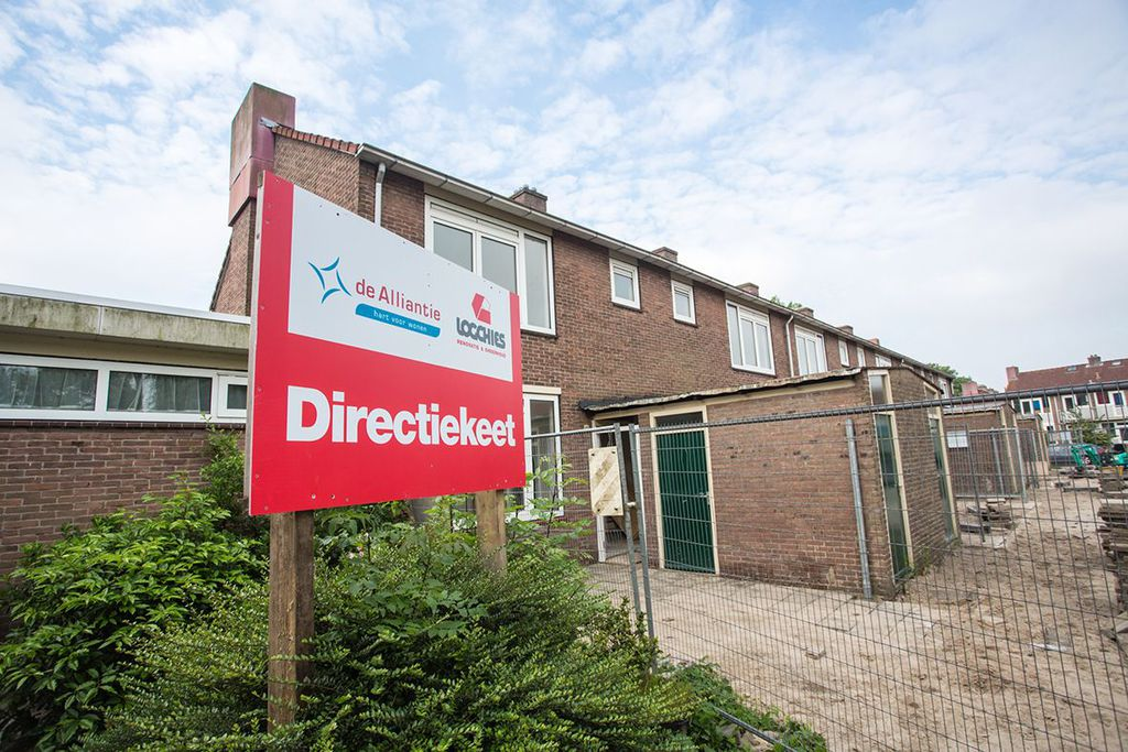 Door levering volgens het JIT-principe en het inrichten van een leegstaande woning als keetwoning en directiewoning kunnen we 'bouwplaatsloos bouwen'