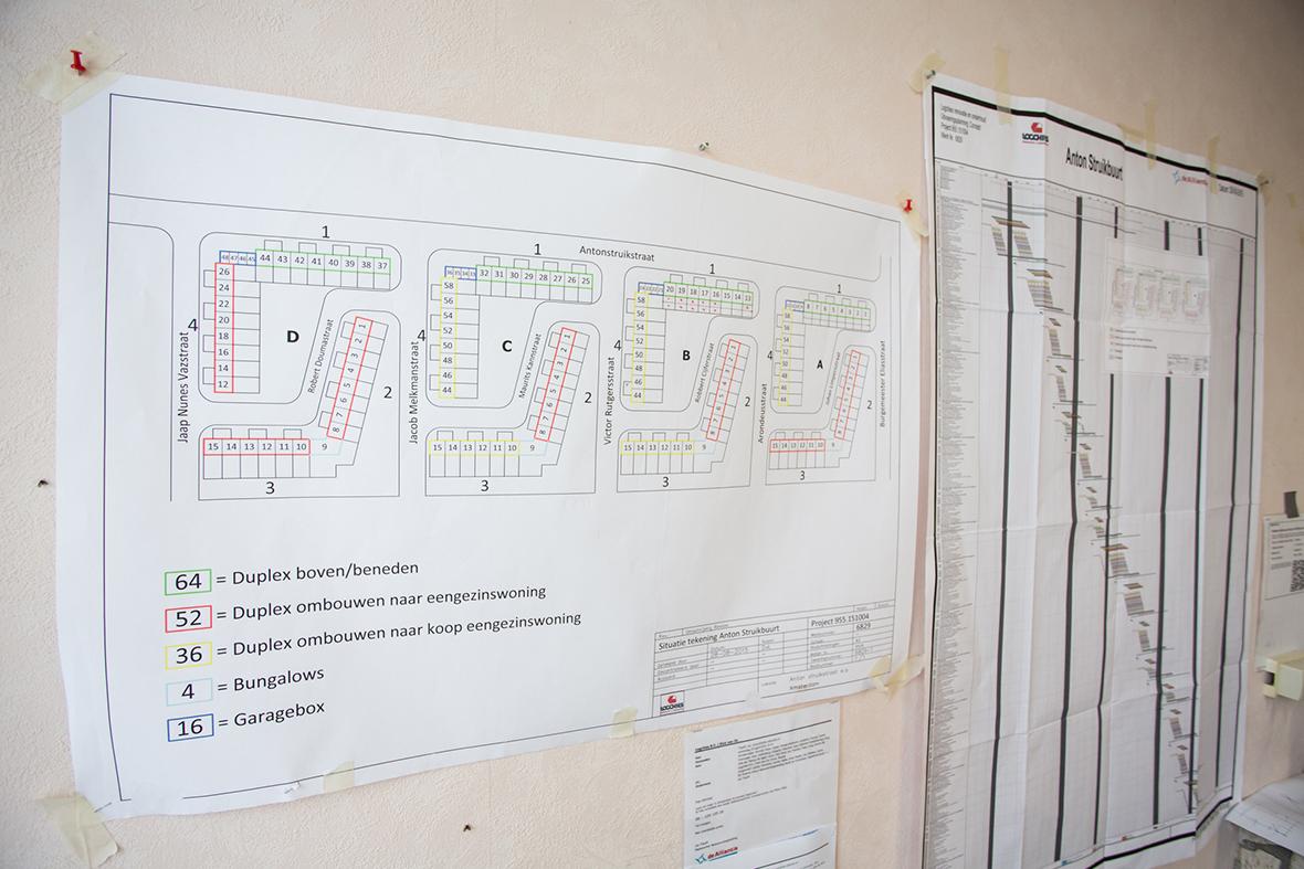 De renovatie is onderdeel van de totale vernieuwing van de Anton Struikbuurt (www.struikbuurt.nl). De werkzaamheden van fase 1 zijn afgerond en fase 2 is in volle gang.
